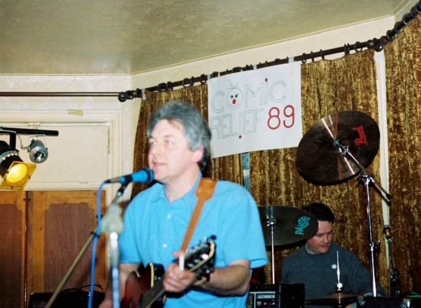 Barrie & Mike at Red Nose Day gig in 1989