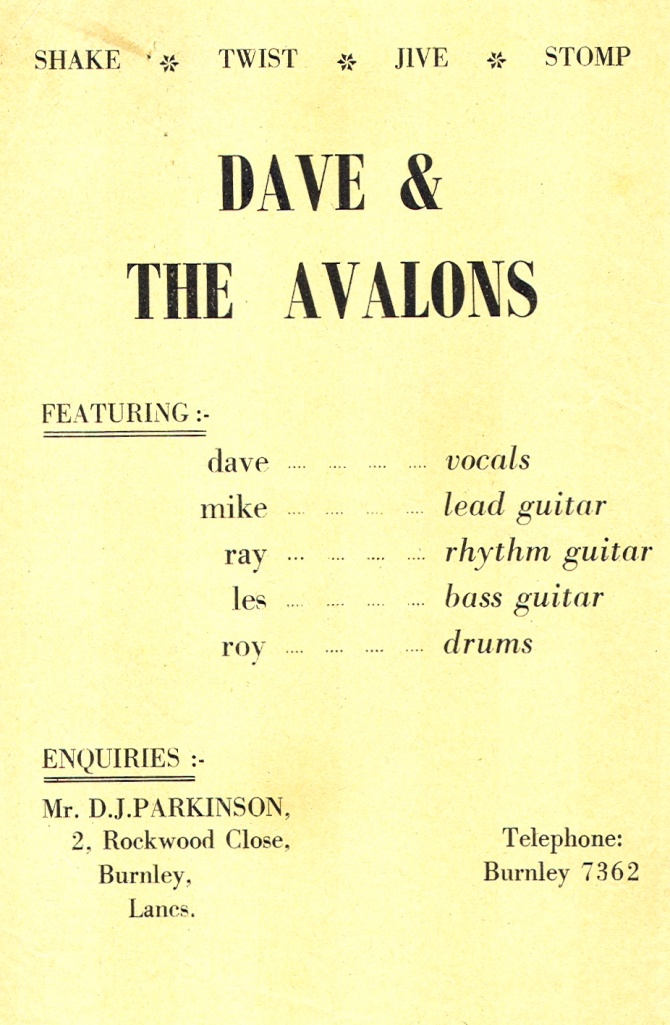 New 5-piece lineup for Dave & The Avalons: Les Atkins joins on bass & Ray Felters takes up rhythm guitar