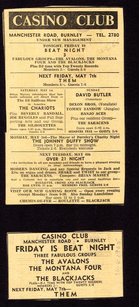 Avalons & Blackjacks on same bill in April 1965