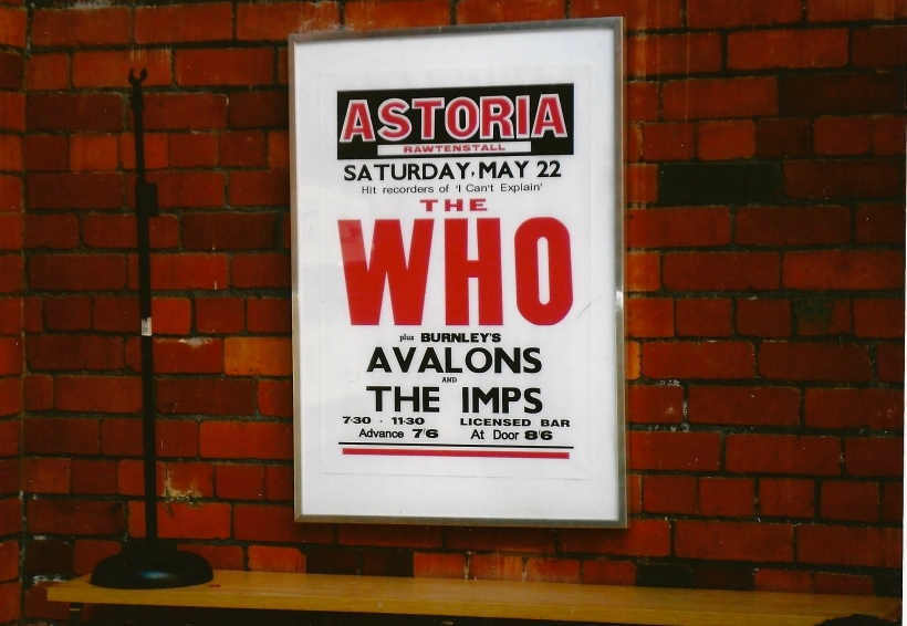 Never to be forgotten night supporting the Who at the Astoria in May 1965