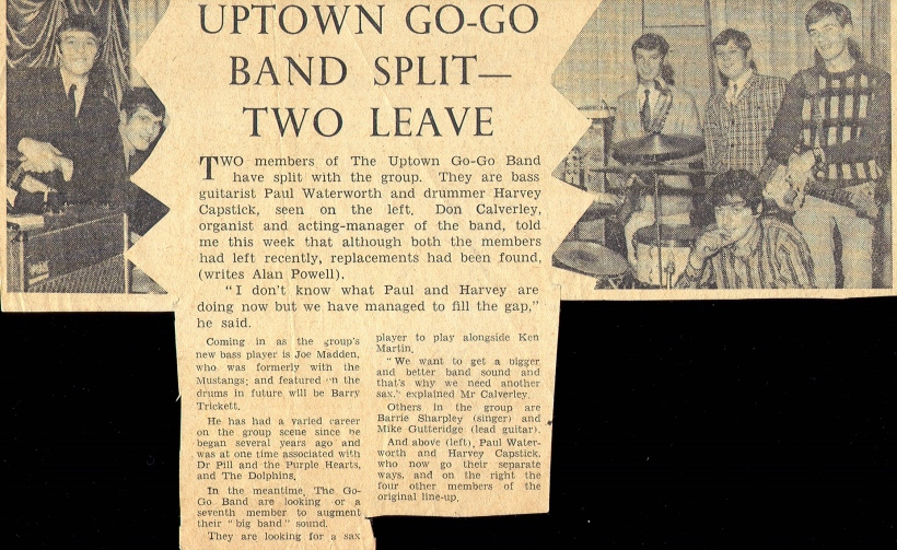 Uptown Go-Go Band lineup changes as reported in Burnley Express. We never did get that 2nd sax player.