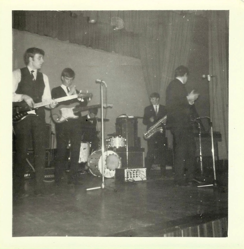 "Early performance by original band (as above) at Crewe College. We probably performed a set list similar to that below although I think we'd included ""Harlem Shuffle"" by then."