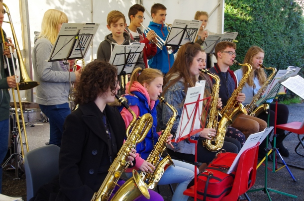 "Colne Valley Music Centre Big Band ""on the bridge"""